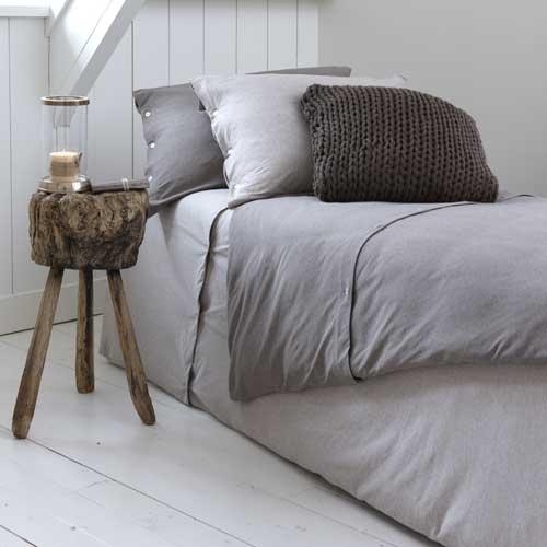 housse de couette en jersey anthracite et gris linde decoclico ventes pas. Black Bedroom Furniture Sets. Home Design Ideas