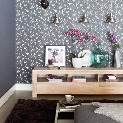 meuble tv 3 tiroirs en ch ne clair meuble tv decoclico ventes pas. Black Bedroom Furniture Sets. Home Design Ideas