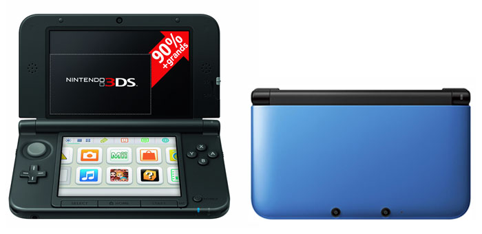 console de jeux fnac console nintendo 3ds xl bleue. Black Bedroom Furniture Sets. Home Design Ideas