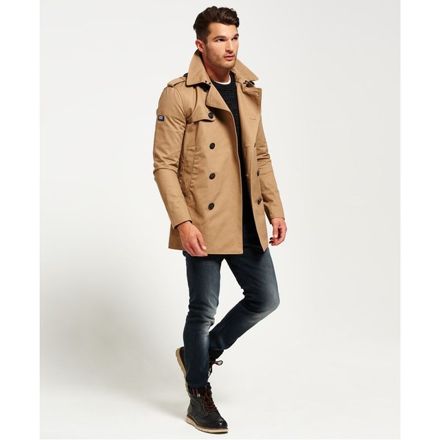 Trench Remastered Rogue Burnt Umber Superdry - Trench Homme La Redoute