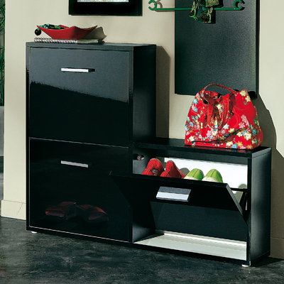meubles chaussures 3 suisses meuble range chaussures 3 abattants effet laqu ventes pas. Black Bedroom Furniture Sets. Home Design Ideas