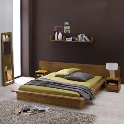 soldes lit 3 suisses lit plateforme kewan en acacia. Black Bedroom Furniture Sets. Home Design Ideas
