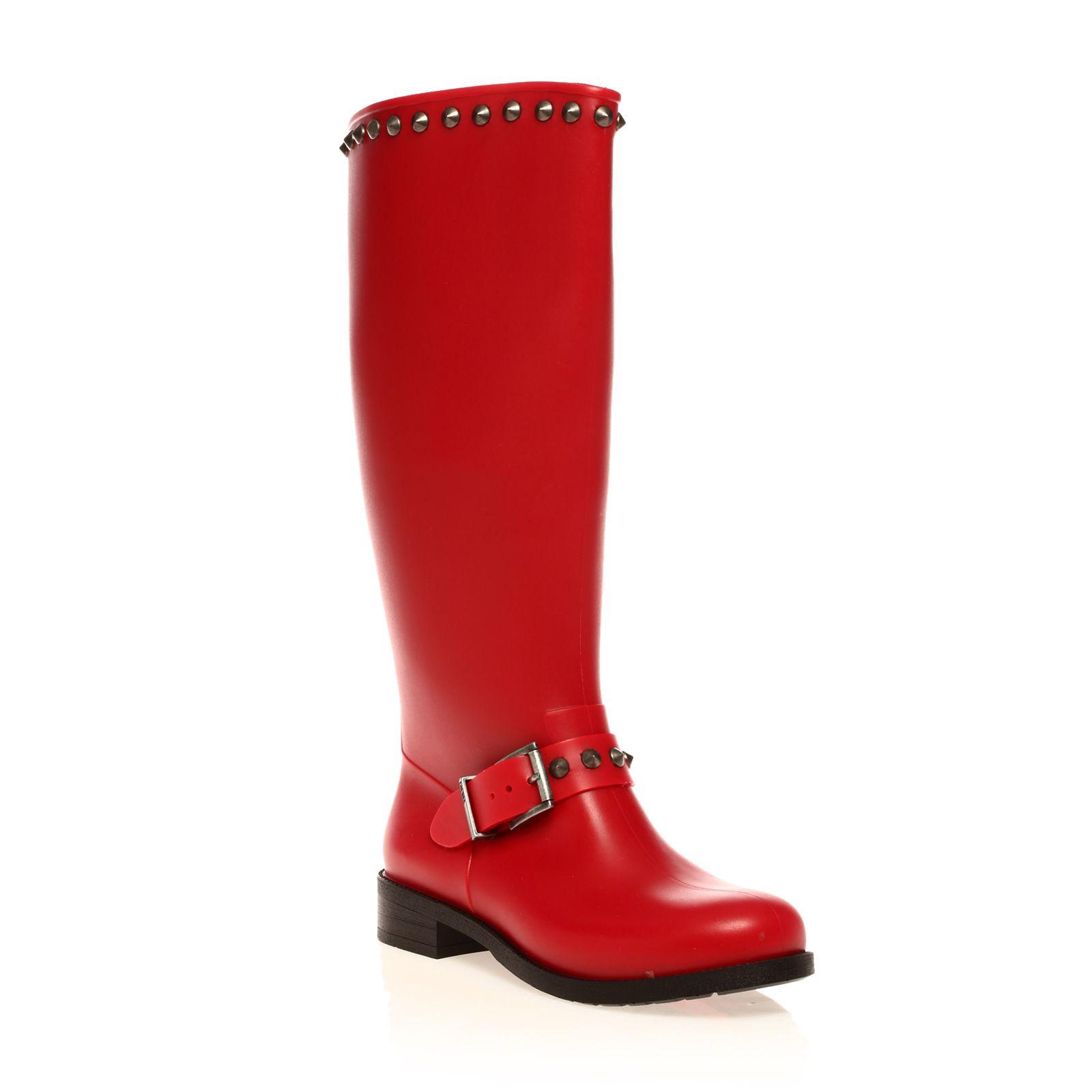 hi stud bottes de pluie rouge diesel bottes de pluie femme brandalley ventes pas. Black Bedroom Furniture Sets. Home Design Ideas