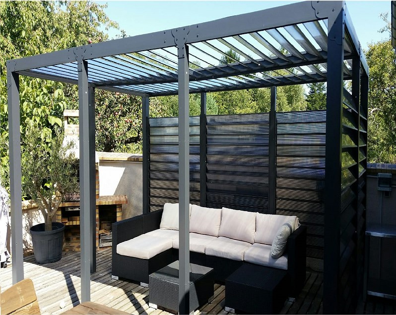 pergola toit et ventelles fixes pas cher pergola auchan ventes pas. Black Bedroom Furniture Sets. Home Design Ideas