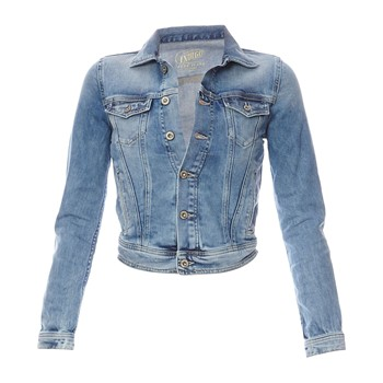 veste en jean denim bleu pepe jeans london veste en jeans femme brandalley ventes pas. Black Bedroom Furniture Sets. Home Design Ideas