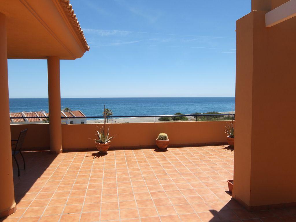 Abritel Location Manilva Espagne - Maison de vacances avec vue fantastique terrasse orientée plein sud et vue imprenable sur la mer