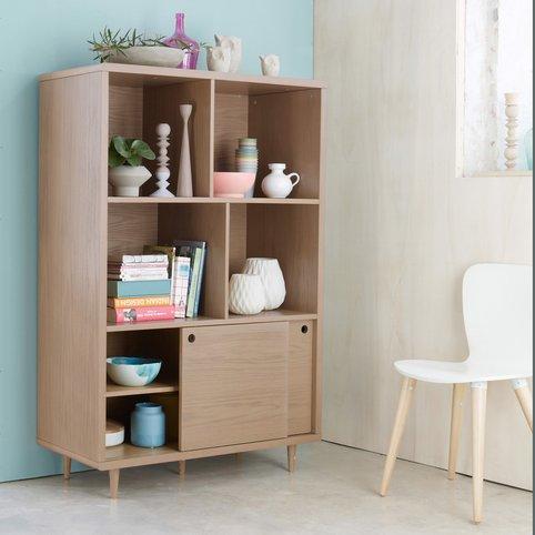 biblioth que new retro 4 niches 2 portes coulissantes biblioth que 3 suisses ventes pas. Black Bedroom Furniture Sets. Home Design Ideas