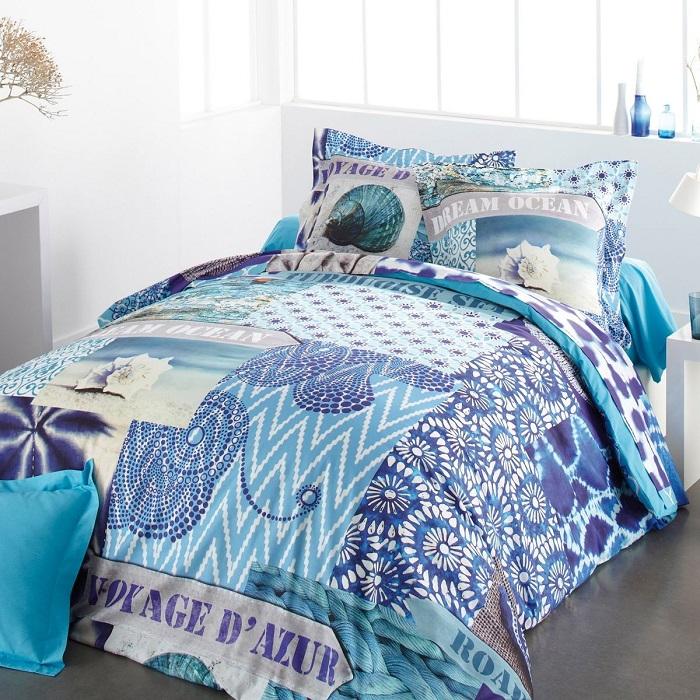 parure housse de couette azur multicolore tradition des vosges housse de couette la redoute. Black Bedroom Furniture Sets. Home Design Ideas