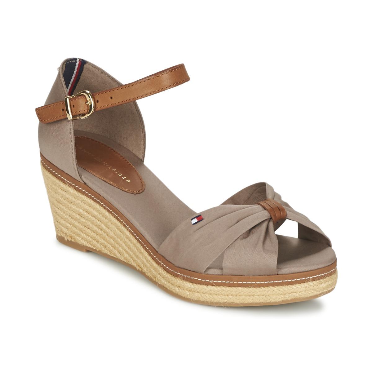 sandales tommy hilfiger elba 19d beige sandales femme spartoo ventes pas. Black Bedroom Furniture Sets. Home Design Ideas