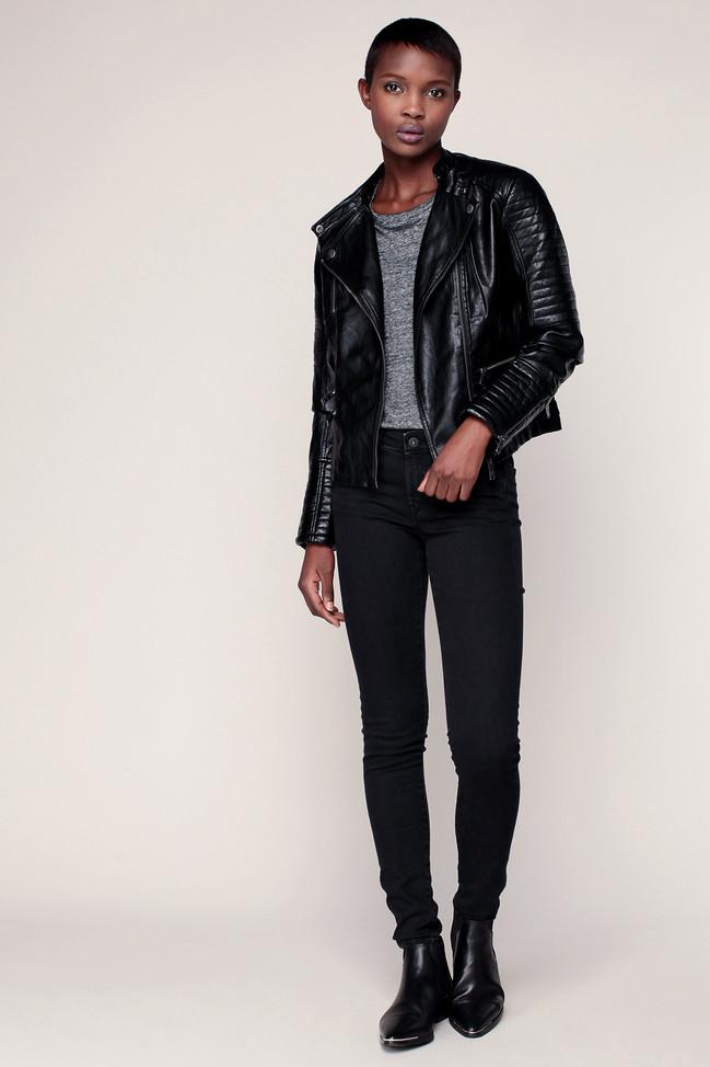 Jean skinny noir denim Lola Pepe Jeans - Jeans Femme Monshowroom