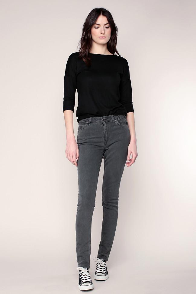 Jean slim gris vintage 721 taille haute Levi's - Jeans Femme Monshowroom
