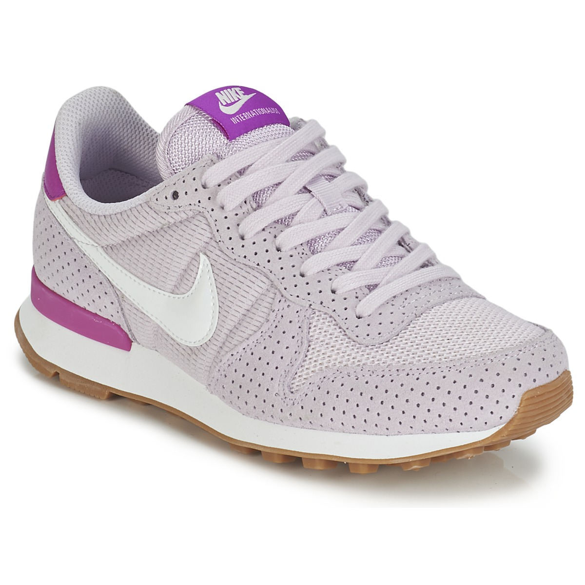 nike internationalist w gris rose baskets femme spartoo ventes pas. Black Bedroom Furniture Sets. Home Design Ideas