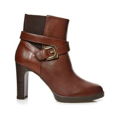Geox Bottines en cuir brun