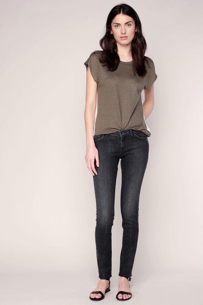 Jean slim grey black liserés fantaisie aux poches Ikks women - Jeans Femme Monshowroom