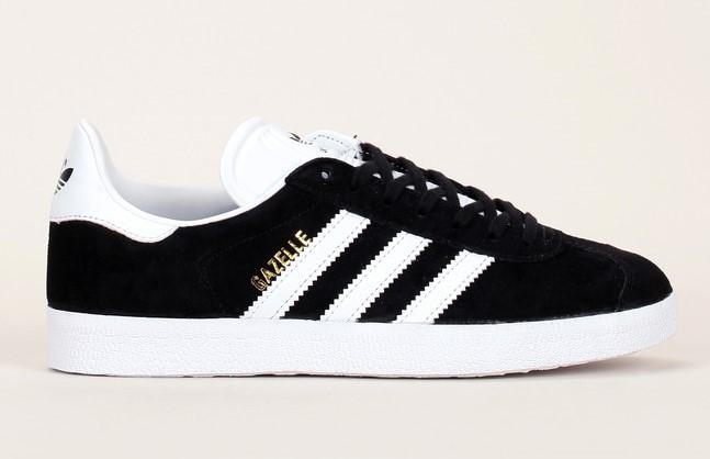 Sneakers noires en cuir suède détails blanc Gazelle Adidas Originals - Baskets Monshowroom