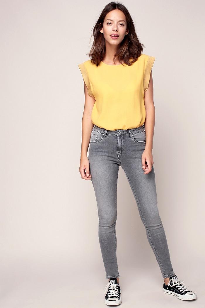 pepe jeans regent jean skinny grey denim jeans femme. Black Bedroom Furniture Sets. Home Design Ideas