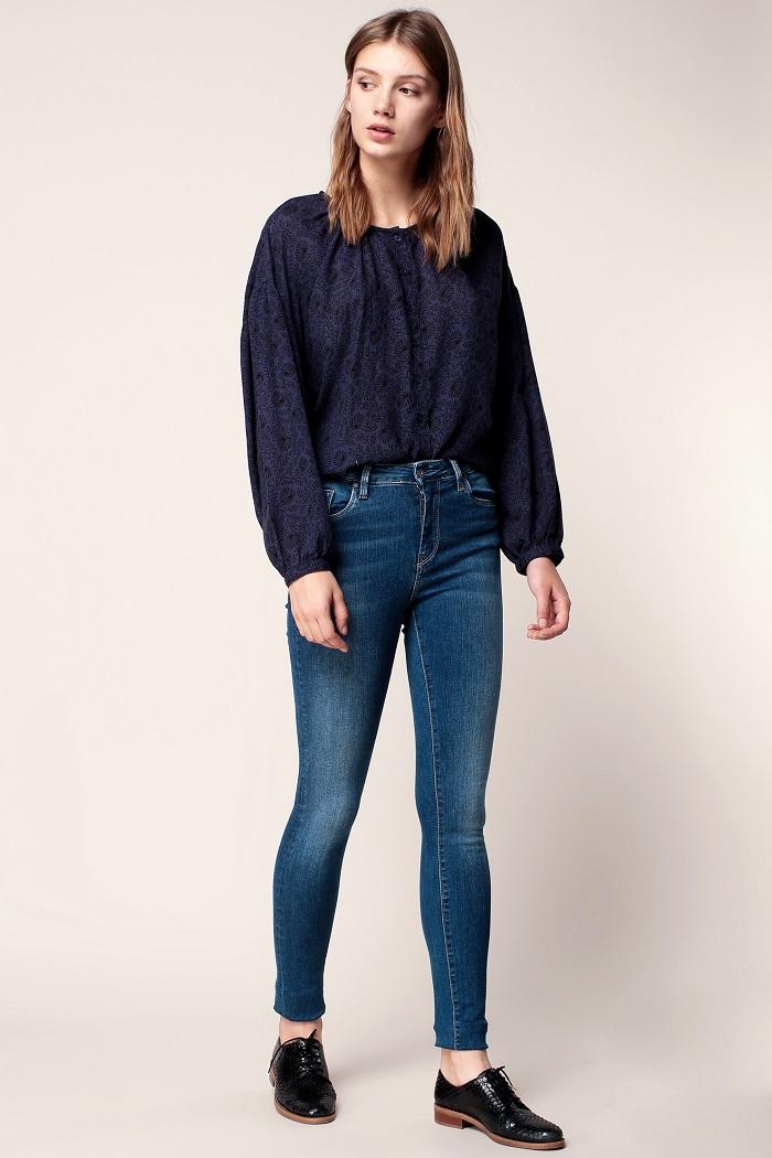 Pepe Jeans Regent Power Flex Jean skinny bleu denim - Monshowroom