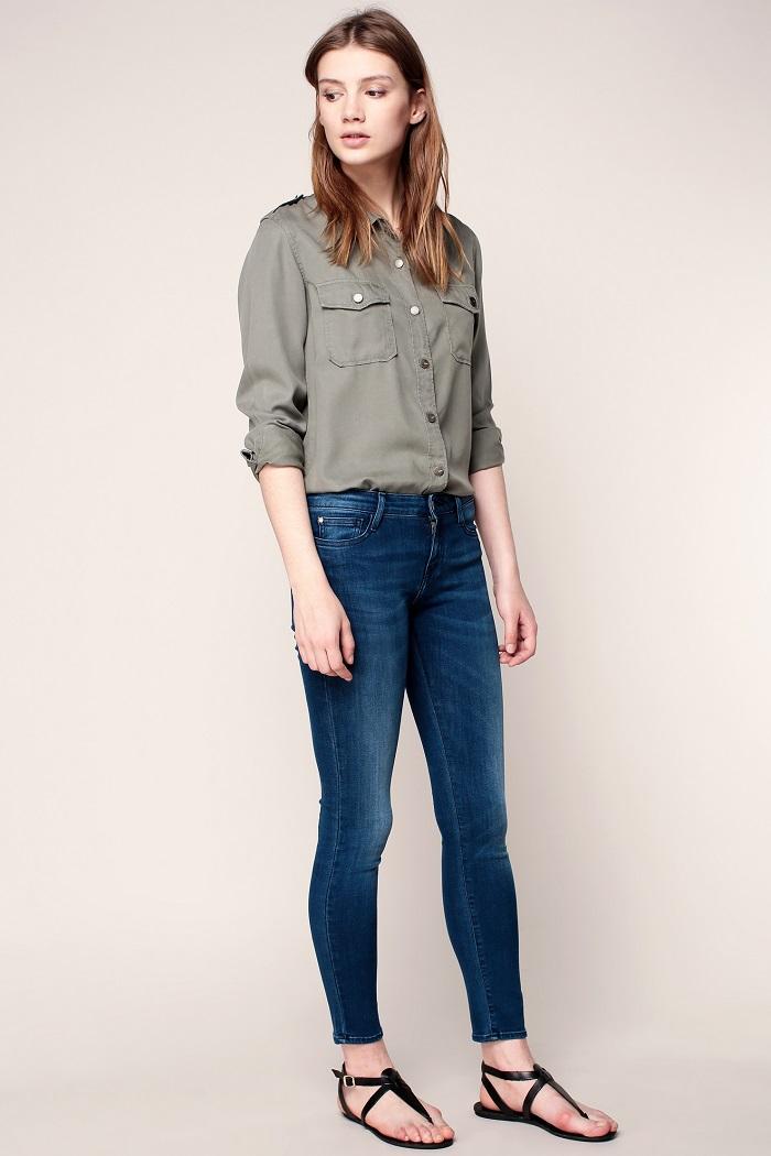 Acquaverde Scarlett Sharp Jean skinny stretch denim blue
