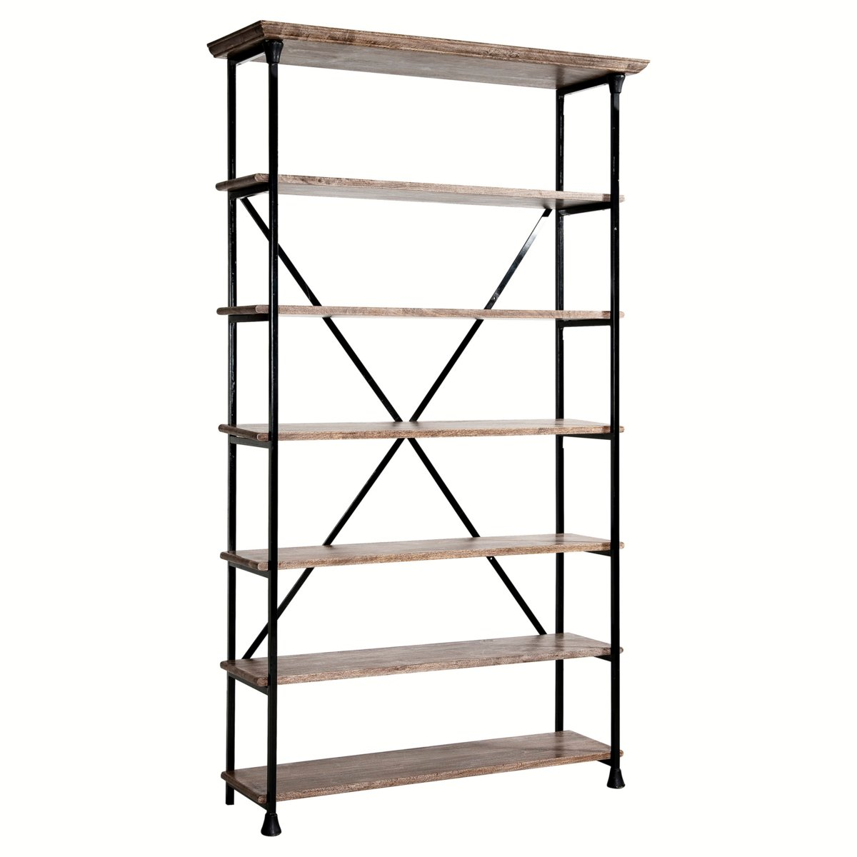 Biblioth que am pm etag re bois et m tal koncept am pm ventes pas - Etagere metal pas cher ...
