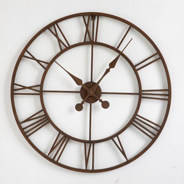 horloge en m tal zivos la redoute horloge la redoute ventes pas. Black Bedroom Furniture Sets. Home Design Ideas