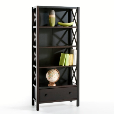 biblioth que la redoute biblioth que pin massif teint weng ventes pas. Black Bedroom Furniture Sets. Home Design Ideas