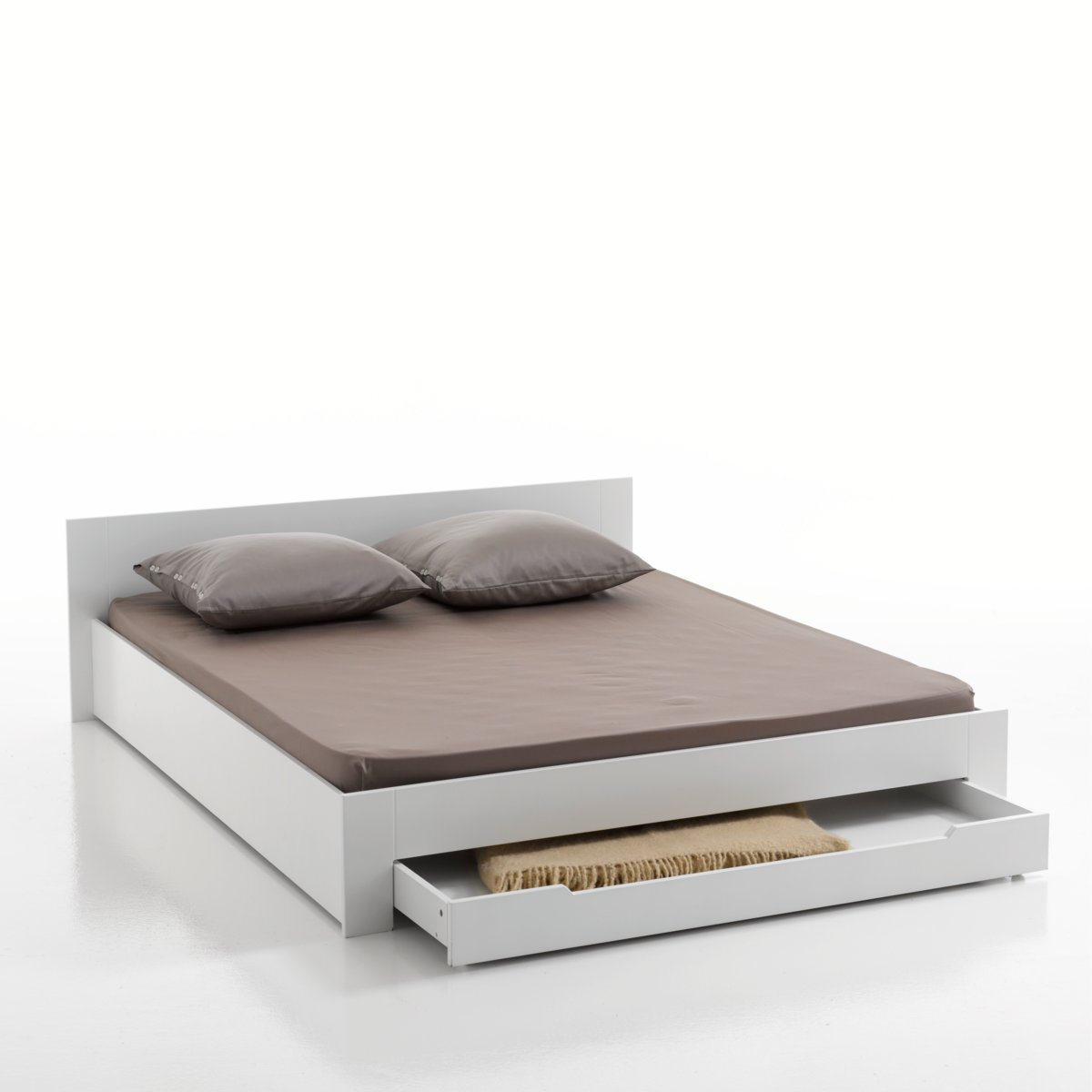 Lit la redoute lit 2 places crawley avec sommier et for Lit escamotable la redoute