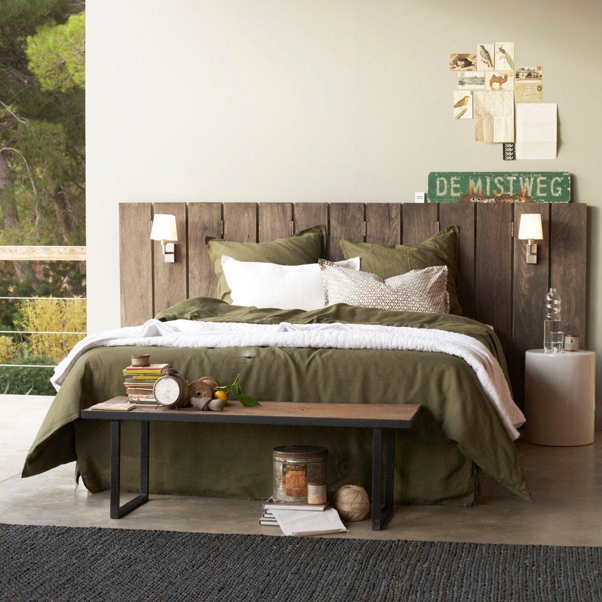 Tete De Lit En Bois Pas Cher tête de lit am pm - tête de lit paravent alam en manguier