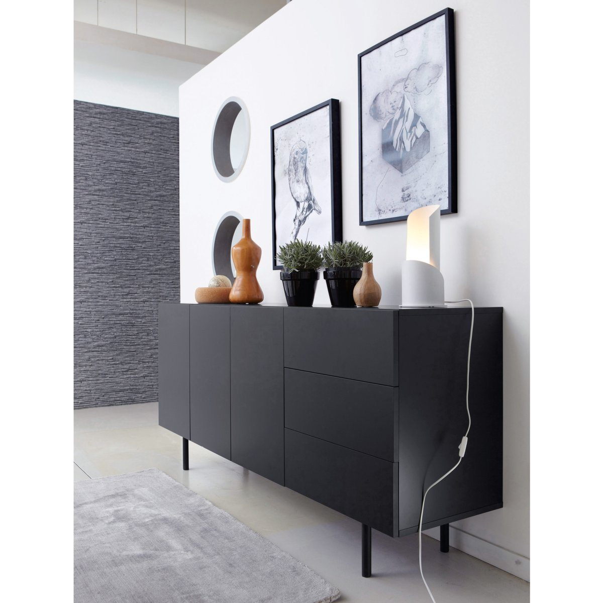 buffet enfilade design joan la redoute interieurs buffet. Black Bedroom Furniture Sets. Home Design Ideas