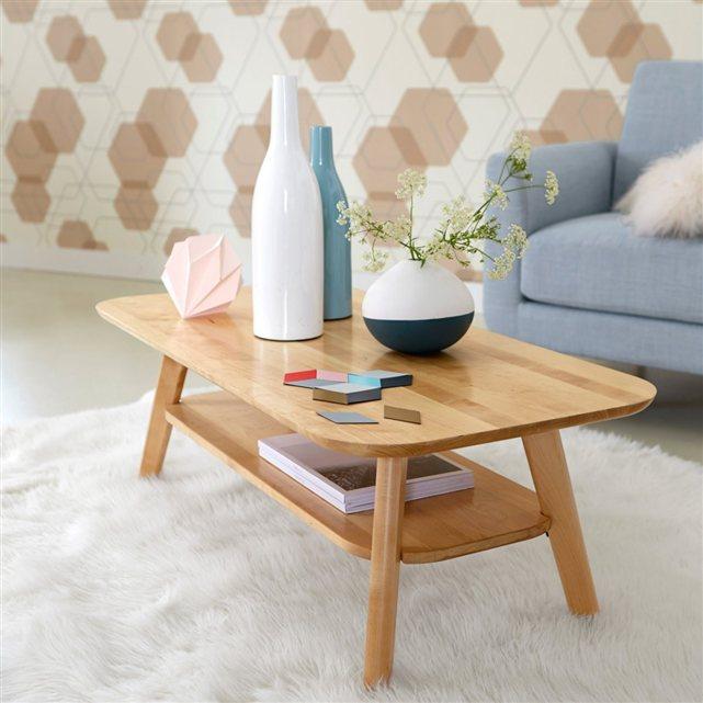 Table Basse 2 Plateaux Bouleau Massif Jimi La Redoute Interieurs