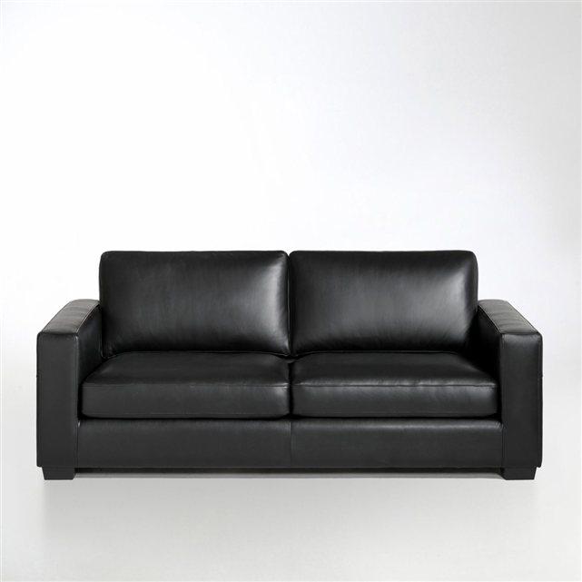 canap cuir 2 ou 3 places ysella la redoute interieurs. Black Bedroom Furniture Sets. Home Design Ideas
