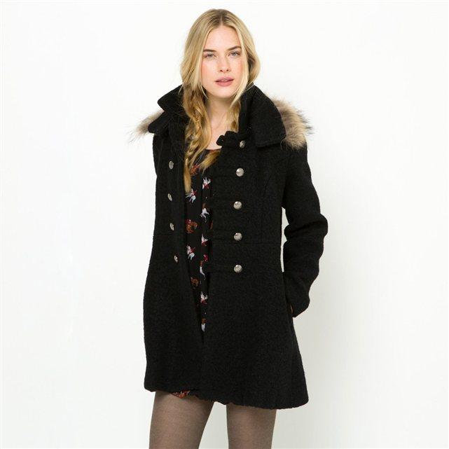 manteau col fausse fourrure amovible doubl molly bracken la redoute ventes pas. Black Bedroom Furniture Sets. Home Design Ideas