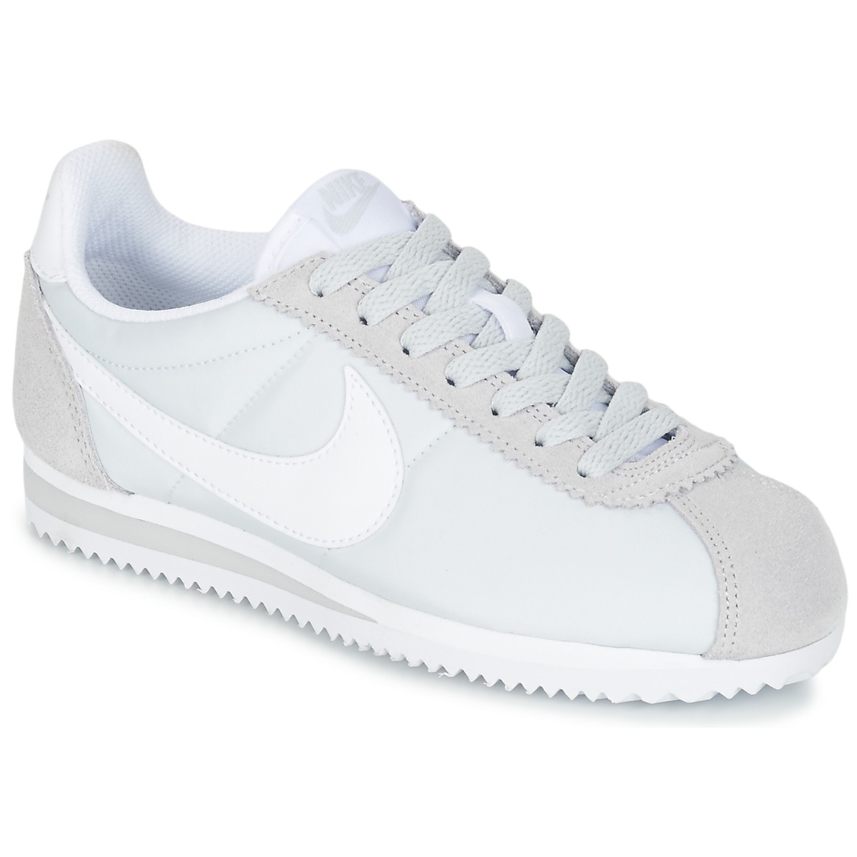 nike classic cortez nylon w gris pas cher baskets femme spartoo ventes pas. Black Bedroom Furniture Sets. Home Design Ideas