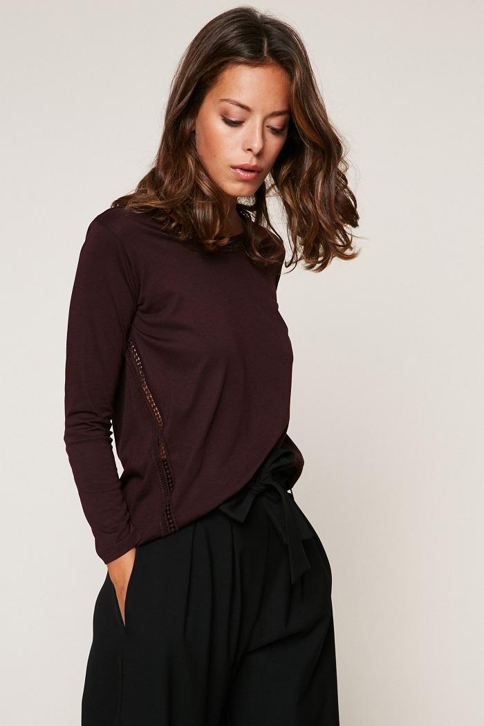 Ikks women T-shirt manches longues à galons ajourés