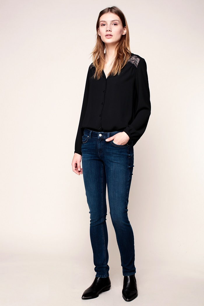 Ikks women Jean skinny stretch blue light - Jeans Femme Monshowroom