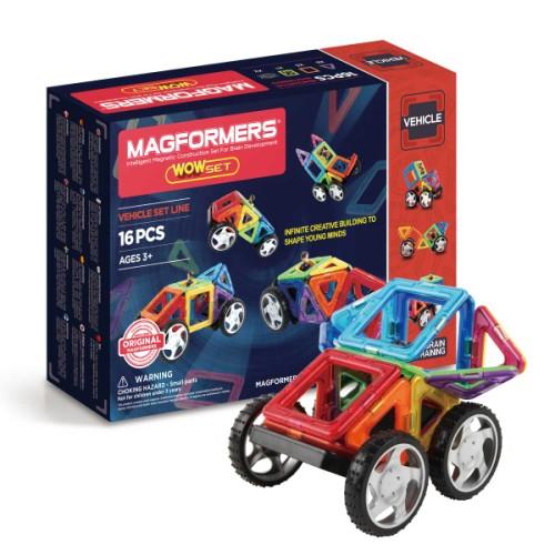 Set véhicules magnétiques magformers 16 pièces