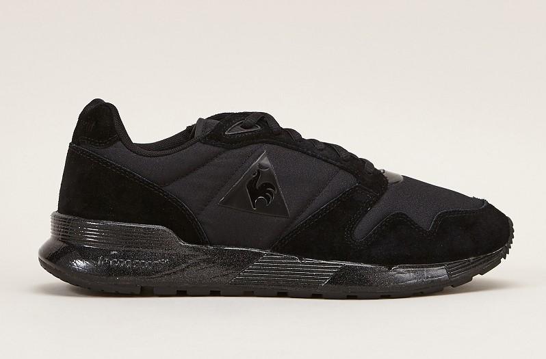 Le Coq Sportif Sneakers noires à semelles contrastées brillantes - Monshowroom