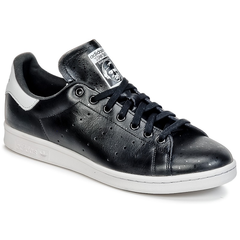 Adidas Originals STAN SMITH Noir  - Baskets Adidas Spartoo
