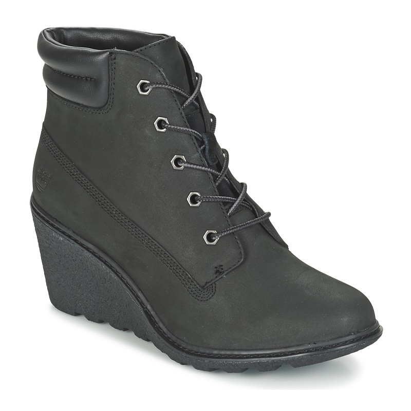 Timberland AMSTON 6IN Noir pas cher - Bottines Femme Spartoo