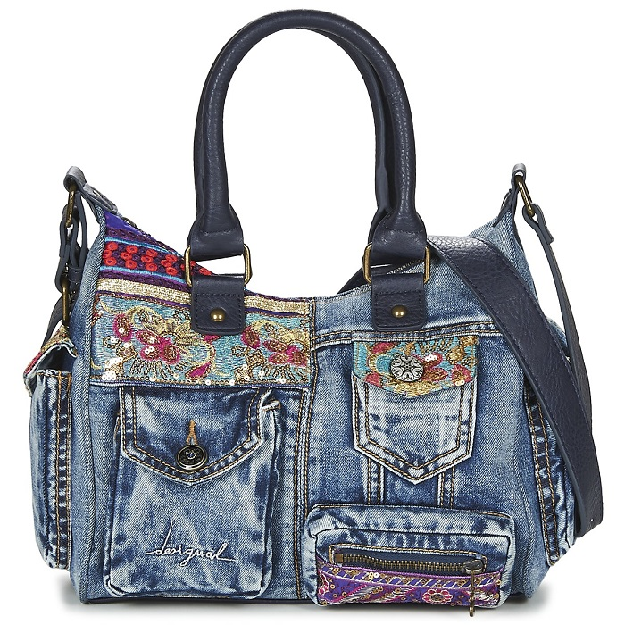 Desigual LONDON MINI ETHNIC DELUXE Bleu - Sacs Spartoo