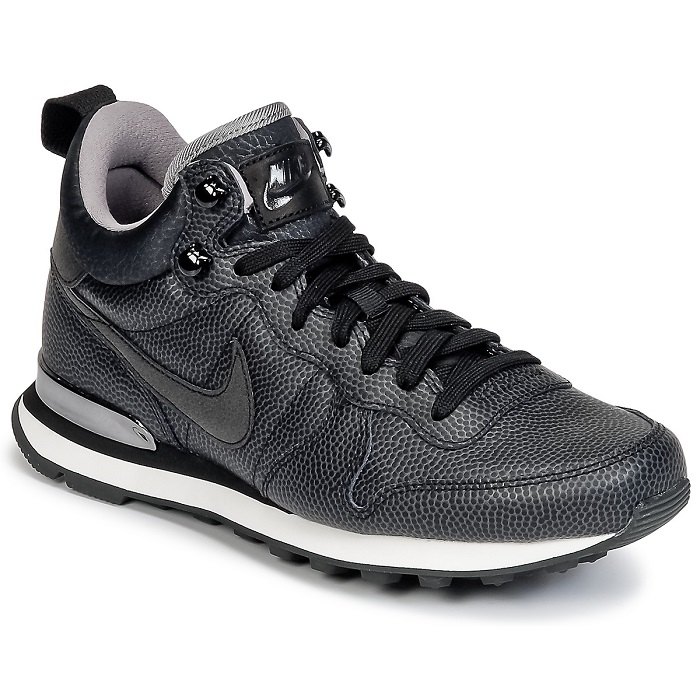 Nike INTERNATIONALIST MID LEATHER W Noir, Baskets Femme Spartoo