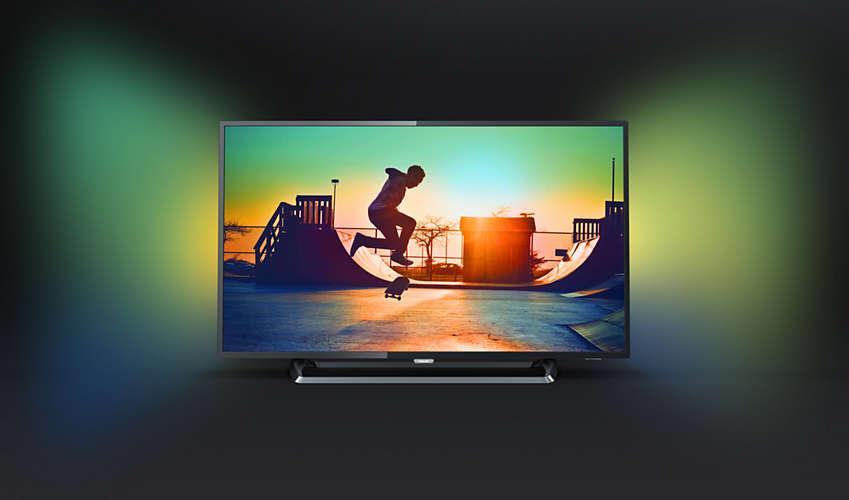 TV Philips 43PUS6262 UHD 4K Ambilight 2 côtés