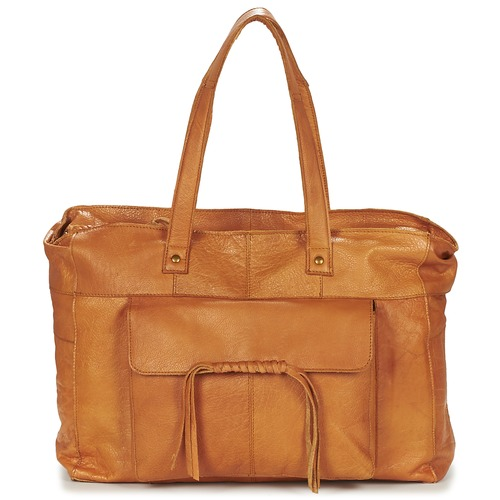 Pieces MUSTA LEATHER BAG Cognac