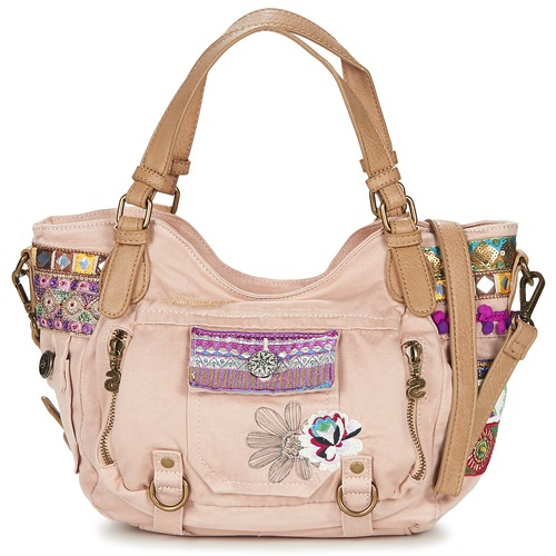 Desigual ROTTERDAM MILITARY DELUXE Rose - Sacs Spartoo