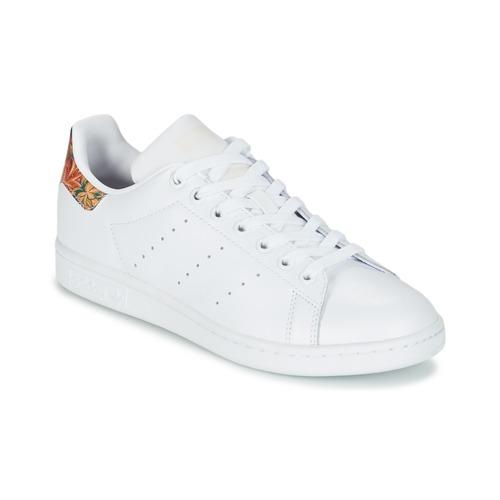 Adidas Originals STAN SMITH W Blanc pas cher - Baskets Femme Spartoo