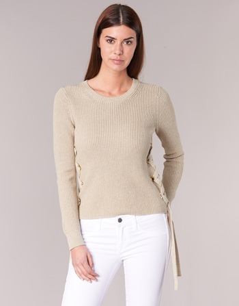 MICHAEL Michael Kors SIDE LACE UP Beige - Pull Femme Spartoo
