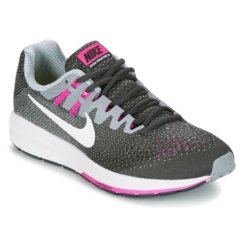 Nike AIR ZOOM STRUCTURE Gris / Rose pas cher - Baskets Femme Spartoo