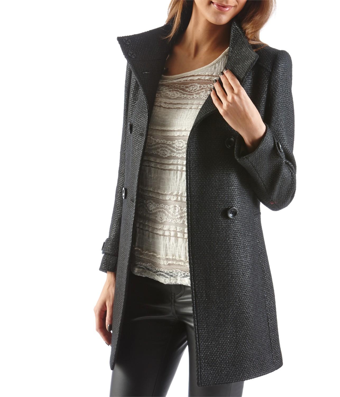 Manteau femme maille lainage, Camaieu Be