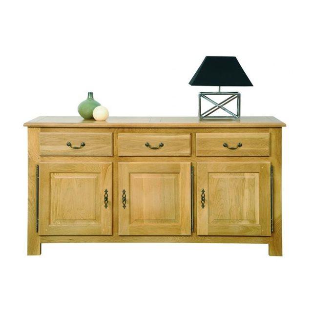 soldes buffet la redoute buffet 3 portes mansart hellin en chene clair ventes pas. Black Bedroom Furniture Sets. Home Design Ideas
