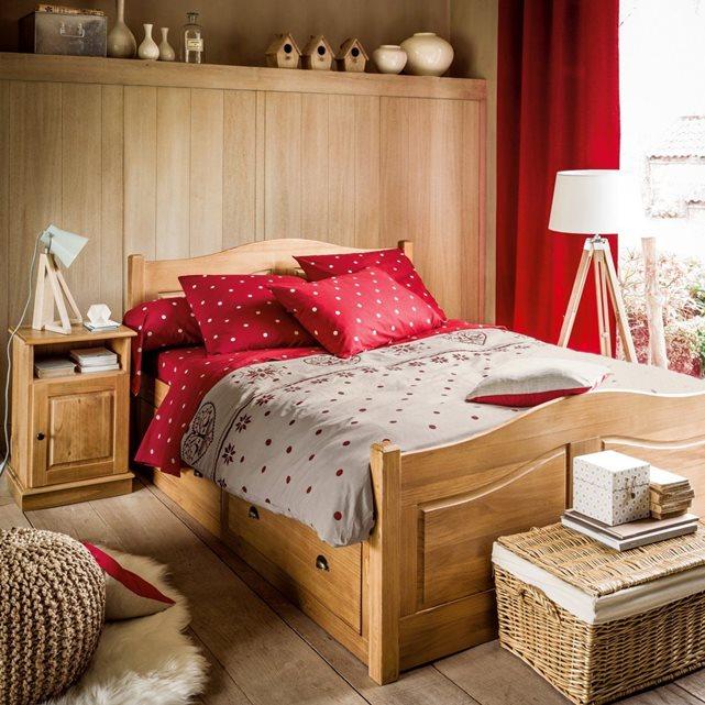 Lit 4 tiroirs pin massif authentic style cir naturel la - La redoute meubles authentic style ...