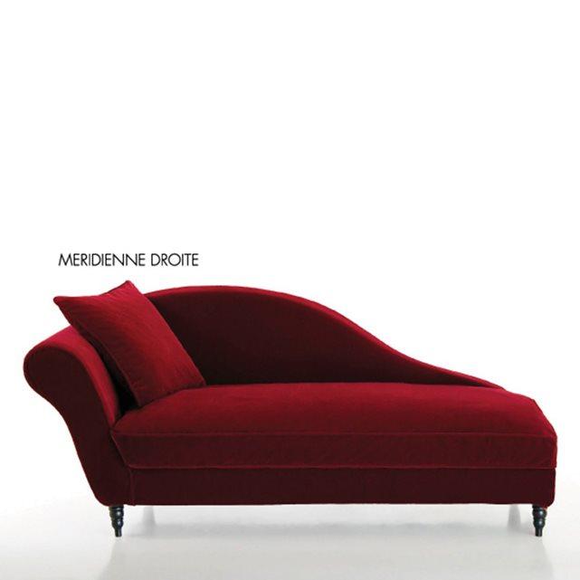 Méridienne velours Lipstick - La Redoute